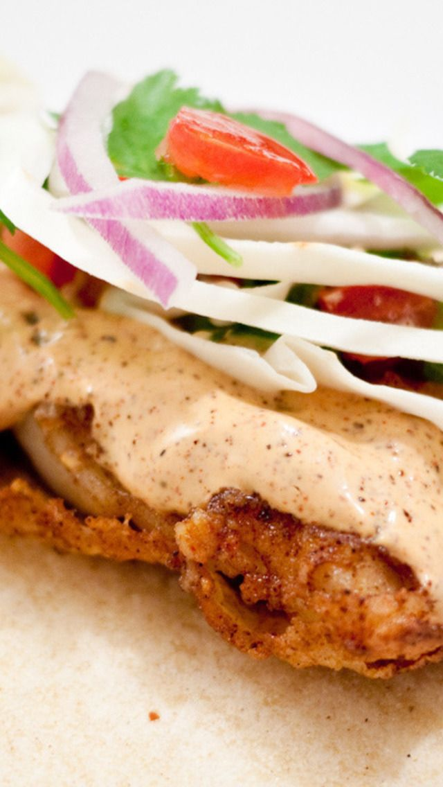Baja Style Fish Tacos   Recipes   Pinterest