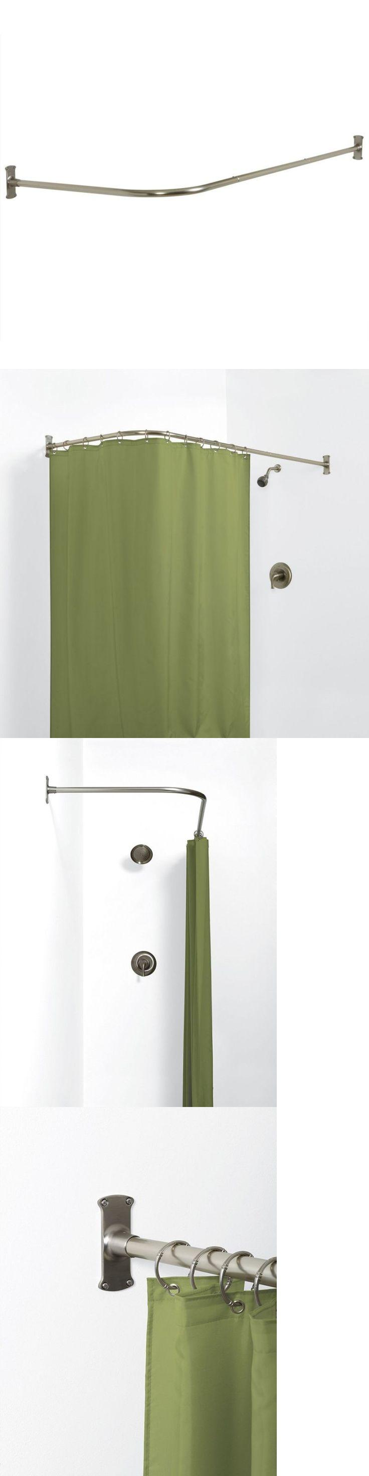best 20 corner curtain rod ideas on pinterest corner window shower curtain rods 168132 zenna home 33941bn neverrust aluminum l shaped corner shower curtain
