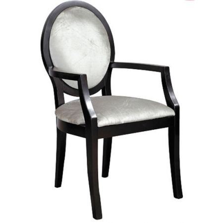 French black and silver carver dining room chair - £284.00 Shop > http://bit.ly/2fCCRUi