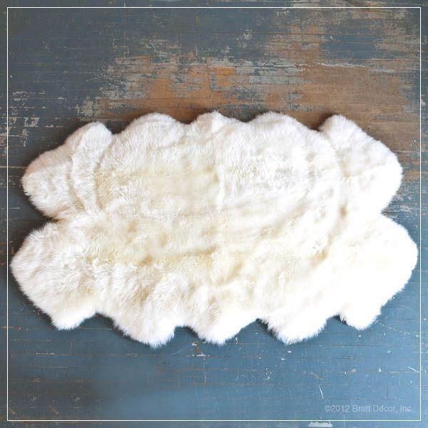 urban sheepskin rug in ivory large