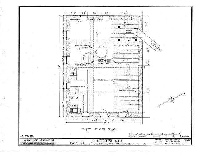 HABS NJ,14-RAL,1- (sheet 2 of 8) - John Ralston Mill, Ralston, Morris County, NJ