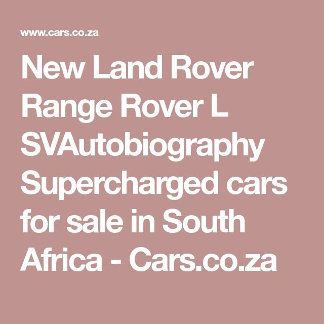 Sparklease 2017 Range Rover Supercharged: Best 25+ Land Rover For Sale Ideas On Pinterest