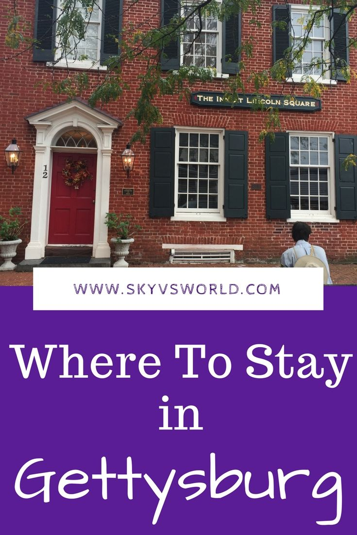 Where to stay in #Gettysburg Pennsylvania // #hotelreview // travel accommodation