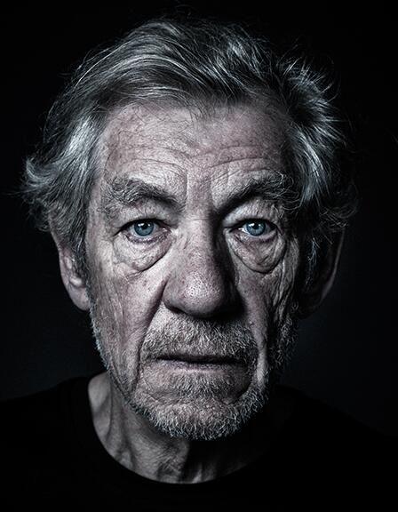 Sir Ian McKellen by Andy Gotts