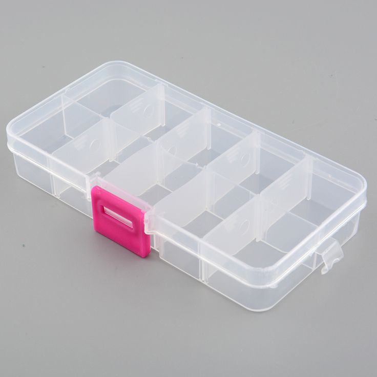 New Plastic 10 Slots Compartment Adjustable Jewelry Necklace Storage Box Case Holder Organizer Container 13.2*6.8*2.3cm [Affiliate]