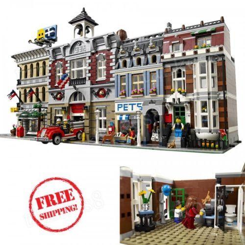 Set-Creator-3-story-Pet-Shop-Toys-Modular-Buildings-Kitchenette-Gift-Play-LEGO