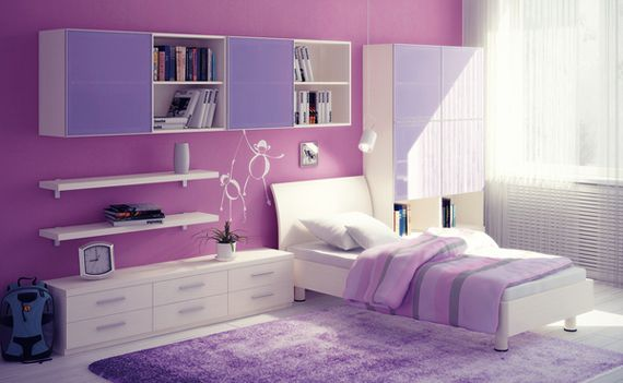 15 Fashionable Girls' Bedrooms In Purple That Steal The Spotlight - Top Inspirations