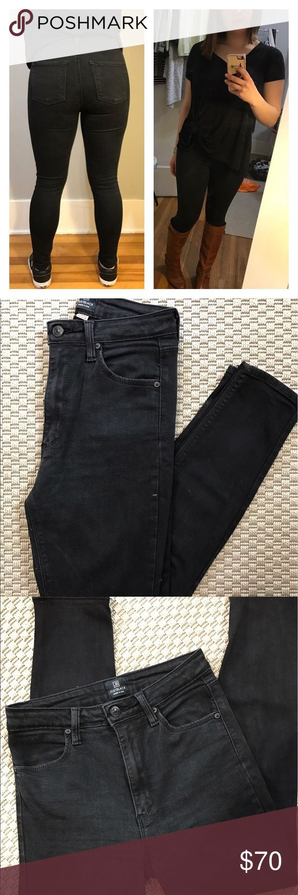 Just Black high waisted black jeans Just Black high waisted black jeans. These are amazing! I'm letting them all of my favorite pants that are Just Black go because I'm needing larger sizes. They are my absolute favorite and fit amazingly well! Please let me know if you have any questions and feel free to make me a reasonable offer. Thanks! Just Black Jeans Skinny