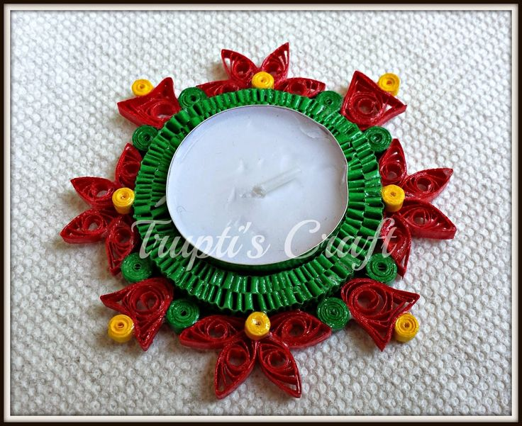 Trupti's Craft: Christmas Candle Holder cum Ornament