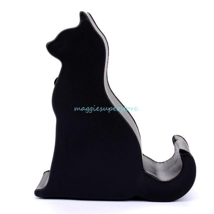 2pcs Universal Black Cat teléfono titular soporte De Escritorio Para Iphone Samsung Smartphone