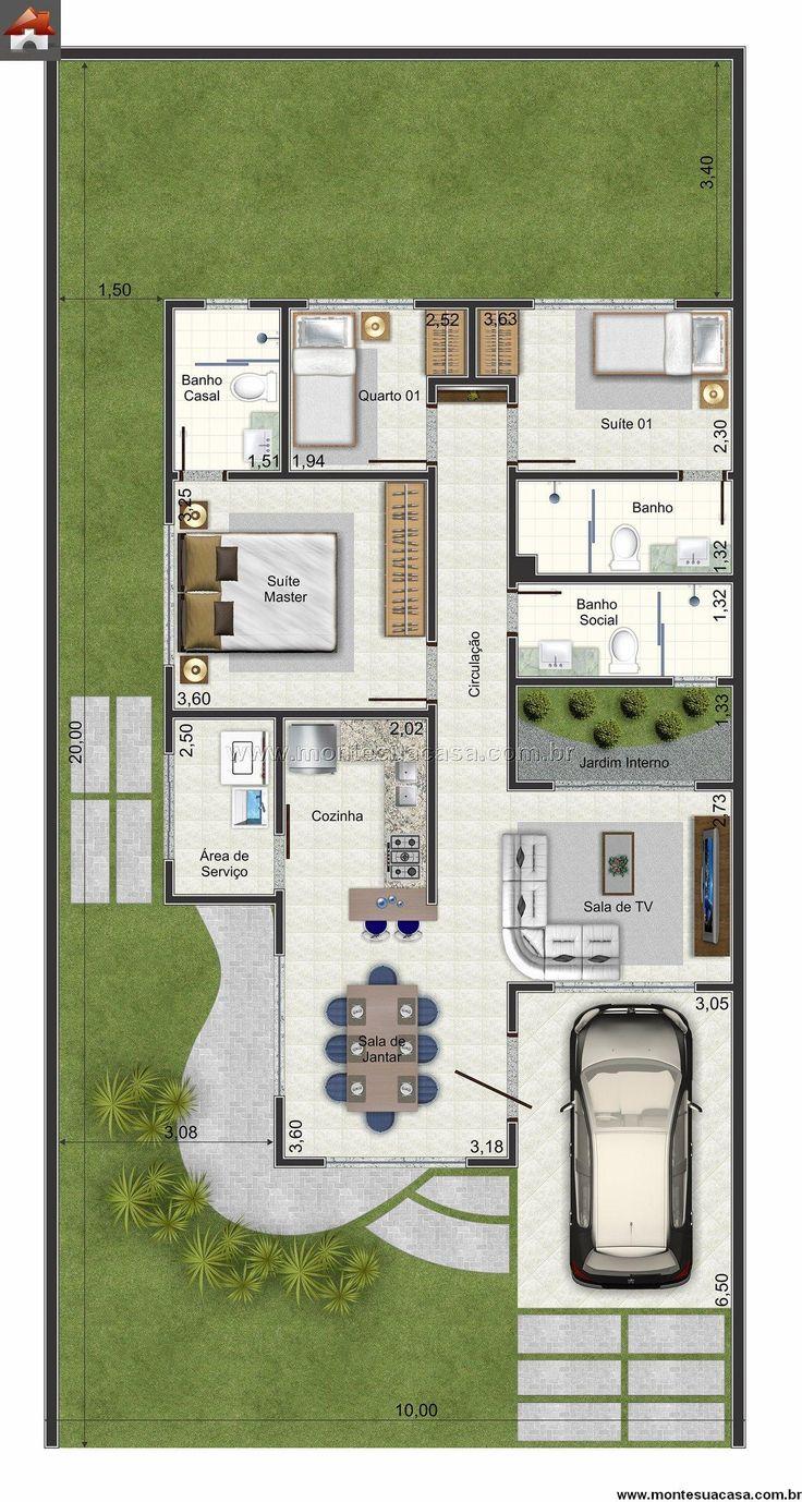 Casa 1 Quartos - 83.02m²