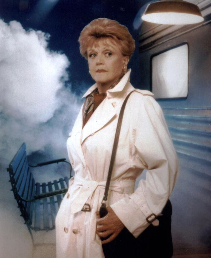 """Angela Lansbury as Jessica Fletcher - nothing quite like a night of watching """"Murder, She Wrote"""". :-) And Jessica Fletcher has to be the most dangerous person to be friends with - everywhere she goes, people die!"""