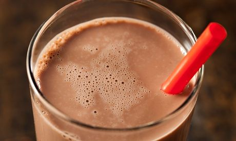 Studies indicate that chocolate milk contains the ideal carbohydrate-to-protein ratio for post-run recovery. Photograph: Brent Hofacker/Alamy