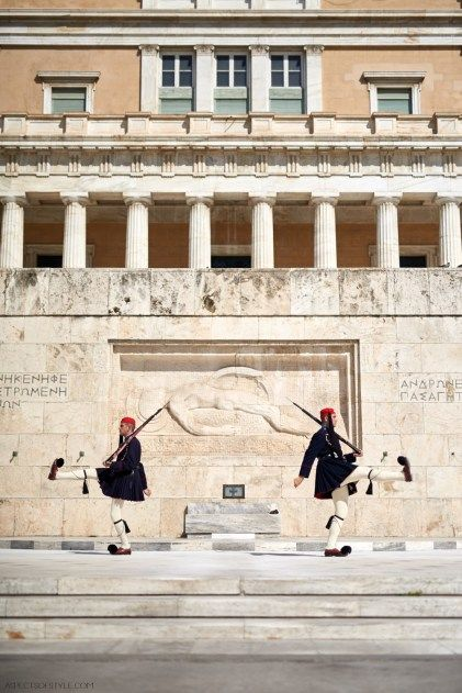 Change of the guards, Syntagram square, Athens Greece