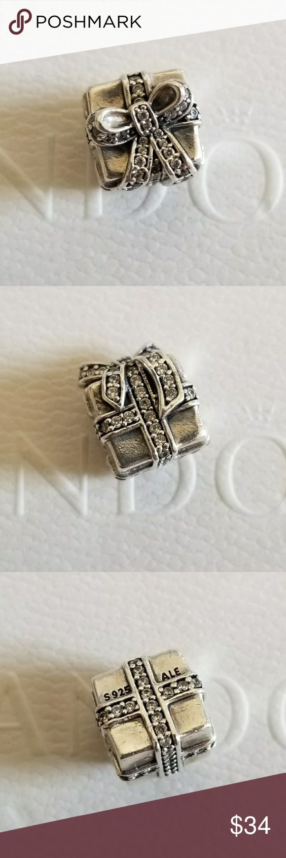 Pandora Sparkling Surprise CZ Charm 100% Authentic Pandora  Good condition  Properly stamped  Pandora stores offer lifetime free cleaning No box included  Bundle for discounts Pandora Jewelry Bracelets