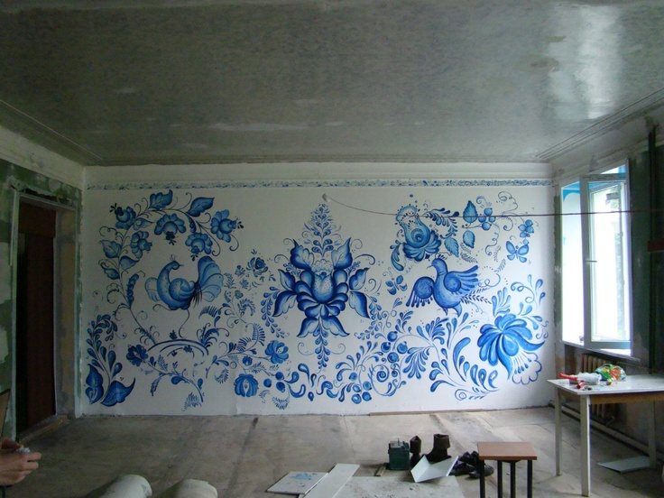 Painting in Redkino orphanage (Russia, Kaluga Region) by in-difference.ru team
