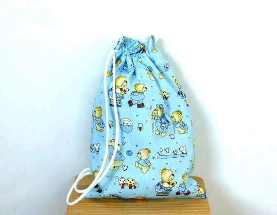 Drawstring Bag for Slippers  Sneakers  Toys Bag  for by CottnLove
