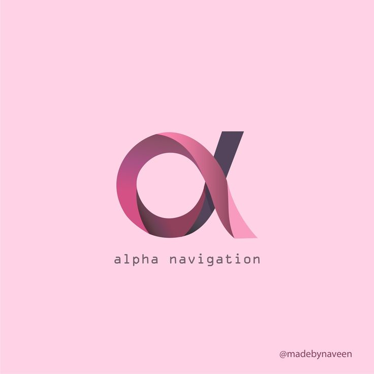 Logo design for alpha navigation.  Smooth and classy logo