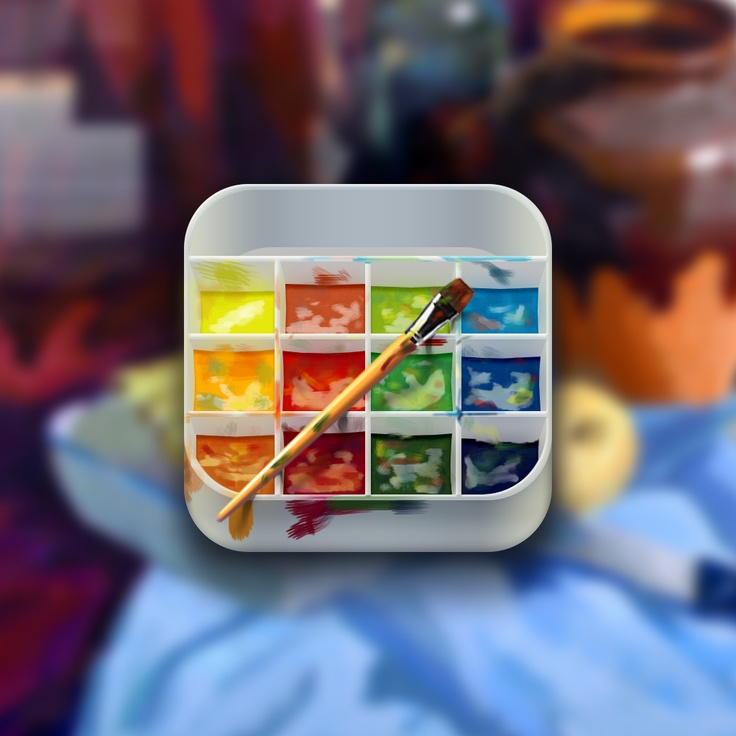 Art is part of our life. Тhe palette of paints iOS APP ICON #ComboApp #Choice #ios #pics