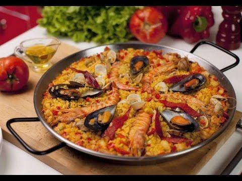 Paella de Marisco - Receta Arroz Brillante - YouTube