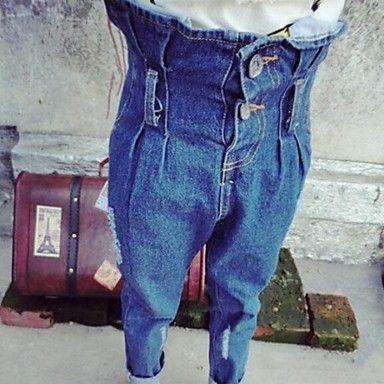 de moda los pantalones vaqueros elásticos de la alta cintura de la muchacha – USD $ 17.60