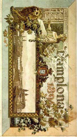 Cartel Sanfermines 1894 - Fiestas y ferias de San Fermín,  #Pamplona