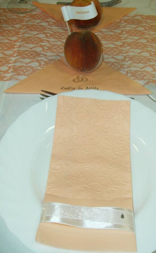 #veridekor #peachdeco #deco #napkin #wedding