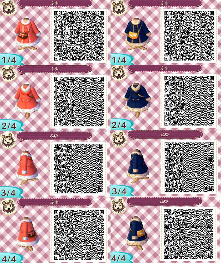 • Christmas red girls dress sweater scarf Clothes purse neutral jacket QR code ac3ds animal crossing new leaf new leaf acnl acjo glong bluegreen pinkpurple cardi gshort merongcrossing •