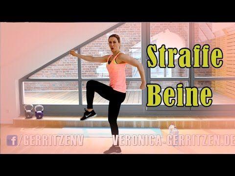 10 Minuten Workout für STRAFFE BEINE | Fitness Workout für zuhause | VERONICA-GERRITZEN.DE - YouTube