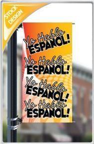 """18""""x36"""" Yo Hablo Espanol Pole Banner"""