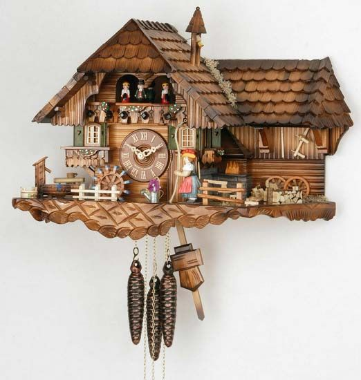 Cuckoo Clock 1-day-movement Chalet-Style 35cm by Hekas $593.00 including worldwide shipping