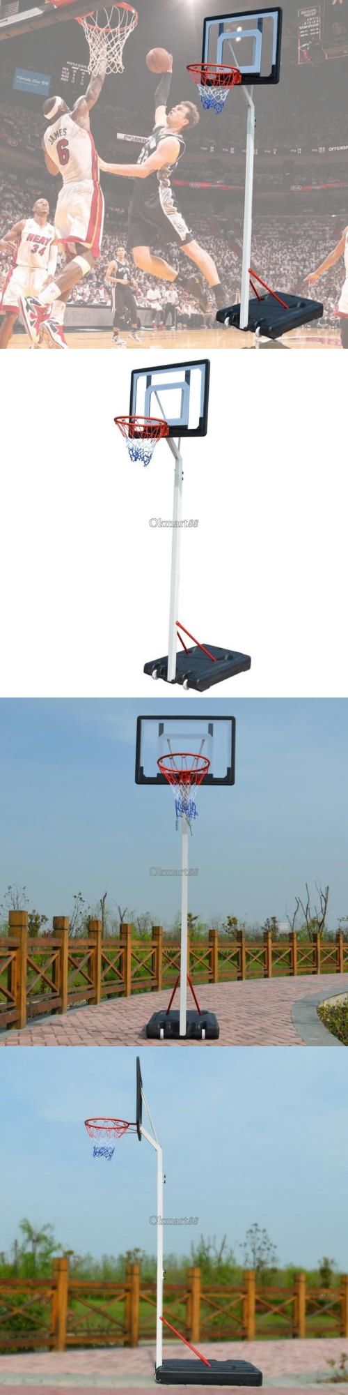 Rims and Nets 158962: Adjustable Portable Wheel Basketball System Hoop Indoor Outdoor Net Goal 2.6M -> BUY IT NOW ONLY: $115.29 on eBay!