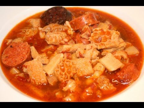 How to cook beef tripe callos a la madrileña mondongo recipe - YouTube