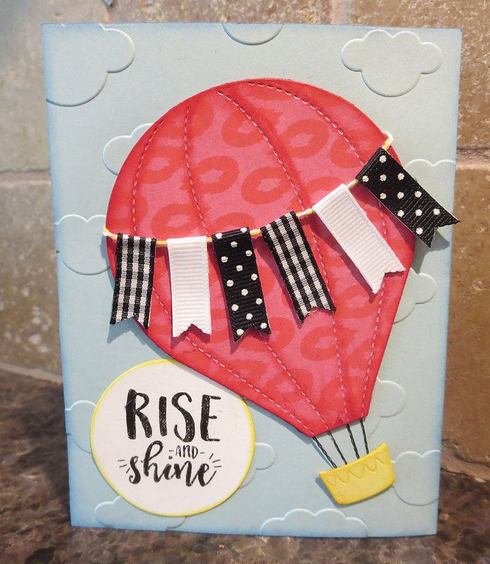 Handmade card by Karen Ladd using the Rise and Shine digital set from Verve. #vervestamps