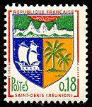 Armoiries de Saint-Denis (Réunion) Armoiries des villes de France (Huitième série) - Timbre de 1964