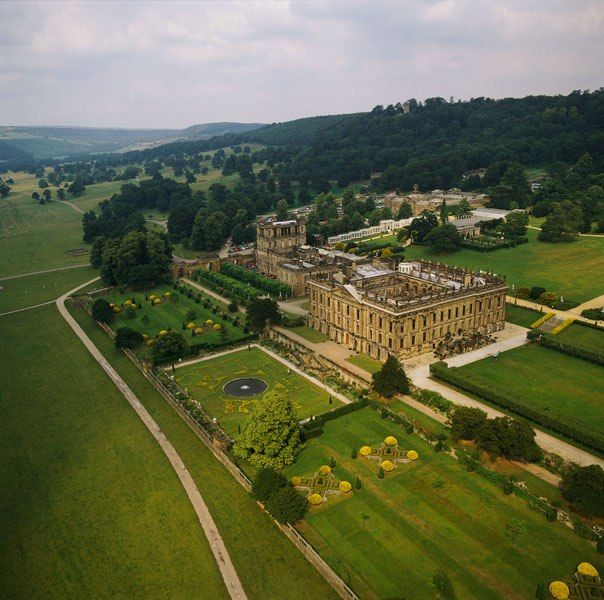 """In the 2005 Jane Austen movie """"Pride And Prejudice"""", Pemberley House, the estate of Bennet's suitor Mr. Darcy, was actually North Derbyshire's Chatsworth House. Home to the Duke and Duchess of Devonshire, the Elizabethan-style mansion boasts one of Europe's great private art and sculpture collections. The house was also featured in the 2008 film """"The Duchess""""."""