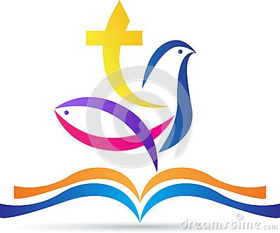 Holy bible with cross dove fish by Colorscurves, via Dreamstime