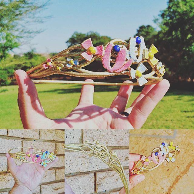 A 3d printed Cinderella tiara. facebook.com/letme3dprintthat