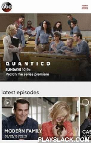 WATCH ABC  Android App - playslack.com ,  Quantico, Scandal, Modern Family, black-ish, and more - Never miss a moment of your favorite ABC shows with WATCH ABC! •FULL EPISODES: Watch full episodes* of ABC's hit shows.•CLIPS: Check out must-see moments from Scandal, hilarious Jimmy Kimmel 'Mean Tweets', or our favorite recipes from The Chew to name a few. •WATCH LIVE: Can't make it to your TV in time? Watch ABC live on your mobile device. *For more information visit: http://abc.go.com/faq.We…