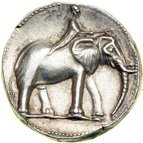 Mondeda de  Carthago Nova: shekel de plata del 220 a.C.