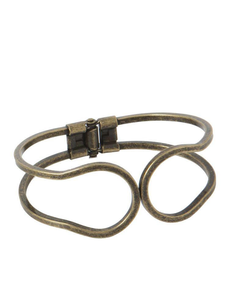 Bronzen armband met scharnier. Metaal is nikkelvrij.
