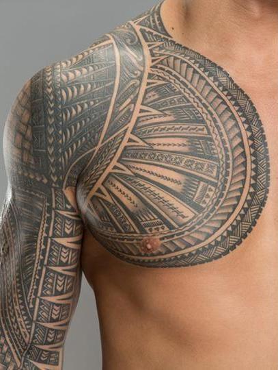 Roman's Samoan Tribal tat upclose