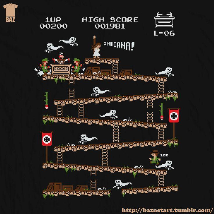 Donkey Kong inspired Indiana Jones Video GameArt - News - GeekTyrant