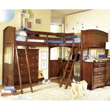 Amazing Lea Deer Run Bi Loft Bed #bunkbed #kids #beds #wood #