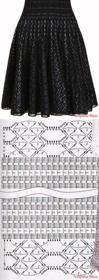 Mejores 11 imágenes de Faldas en Pinterest | Faldas de ganchillo ...