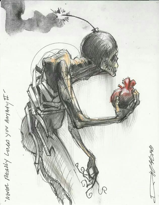 I carry my heart... But what is going on in my head, there lies the time bomb