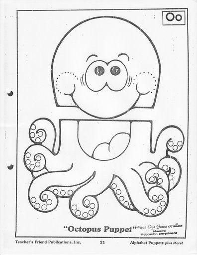 paper bag puppet Octopus