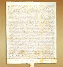"""Magna Carta, or""""Great Charter,"""" signed by the King of England in 1215, was a turning point in human rights.It was arguably the most significant early influence on the  historical process that led to the rule of constitutional law today in the English-speaking world. In 1215, after King John of England violated a number of ancient laws and customs by which England had been governed, his subjects forced him to sign the M. Carta which enumerates what later came to be thought of as human rights…"""
