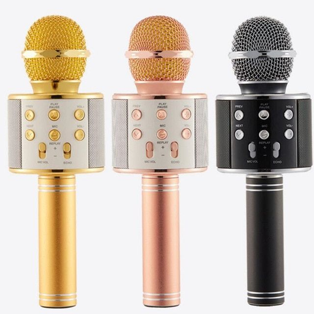 Kids Microphone Wireless Portable Karaoke Speaker Bluetooth Handheld Karaoke Machine Sing Equipment for Party//Home//Outdoors Kids Birthday Gift Compatible with Android//IOS Smartphone and Pad Blue