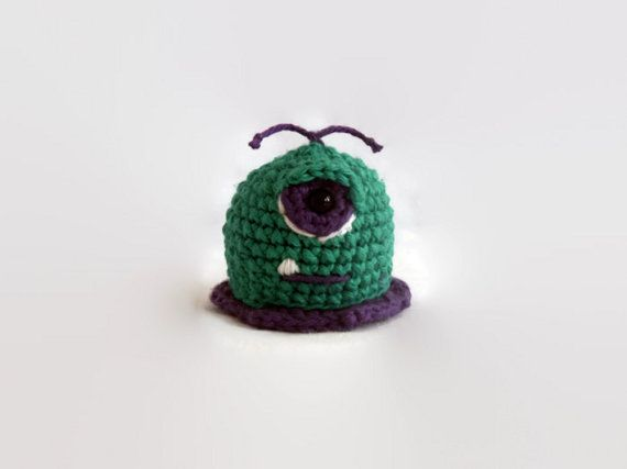 baby blob monster crochet plush amigurumi wool by AWickedStitchery